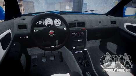Subaru Impreza WRC 1998 SA Competio v3.0 para GTA 4 vista de volta