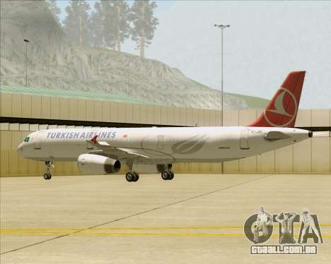 Airbus A321-200 Turkish Airlines para as rodas de GTA San Andreas