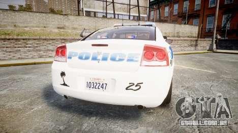 Dodge Charger 2010 PS Police [ELS] para GTA 4 traseira esquerda vista