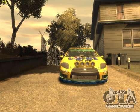 Mitsubishi Eclipse GT Rallycross para GTA 4 esquerda vista