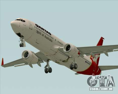 Boeing 737-838 Qantas (Old Colors) para GTA San Andreas vista interior