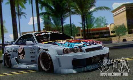 Nissan Skyline R-34 SDK Style para GTA San Andreas