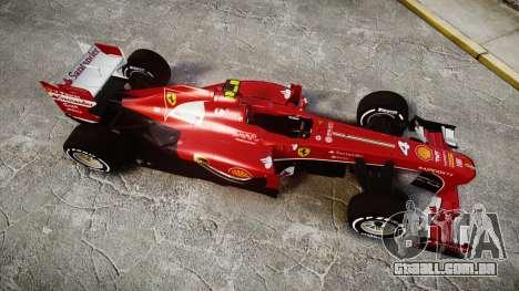 Ferrari F138 v2.0 [RIV] Massa TMD para GTA 4 vista direita