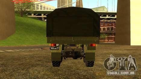 A KamAZ-6350 para GTA San Andreas esquerda vista