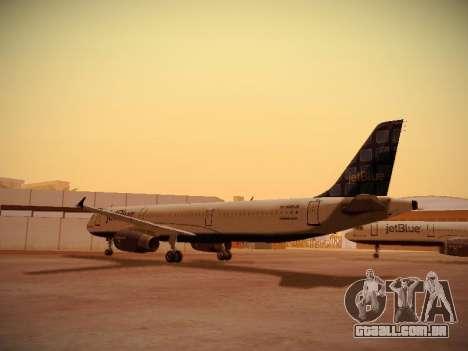 Airbus A321-232 jetBlue Blue Kid in the Town para GTA San Andreas vista direita