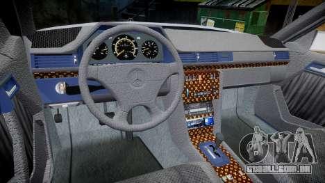 Mercedes-Benz E500 1998 Tuned Wheel White para GTA 4 vista de volta