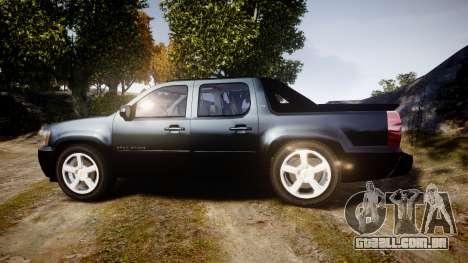 Chevrolet Avalanche 2008 Undercover [ELS] para GTA 4 esquerda vista