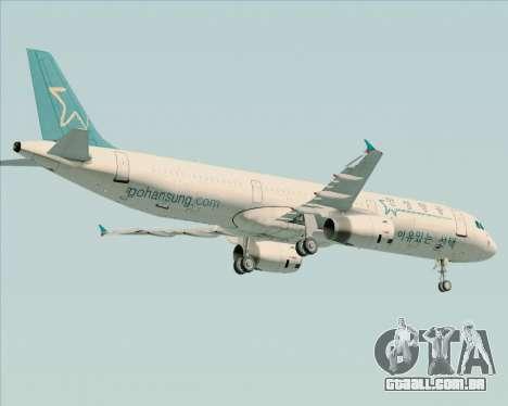 Airbus A321-200 Hansung Airlines para GTA San Andreas vista superior