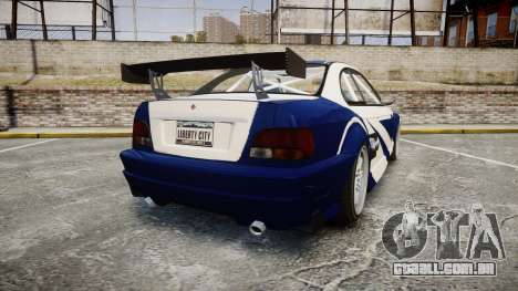 Ubermacht Sentinel GTR Most Wanted style para GTA 4