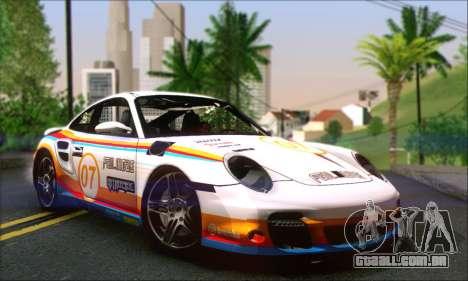 Porsche 997 Turbo Tunable para GTA San Andreas vista inferior