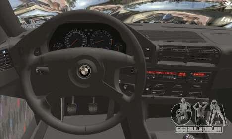 BMW M5 E34 V10 para GTA San Andreas traseira esquerda vista