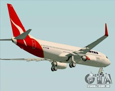 Boeing 737-838 Qantas (Old Colors) para GTA San Andreas vista inferior