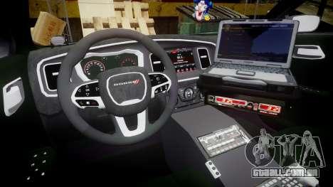 Dodge Charger 2015 LPD CHGR [ELS] para GTA 4 vista de volta