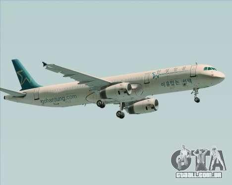 Airbus A321-200 Hansung Airlines para GTA San Andreas vista traseira