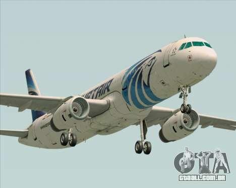 Airbus A321-200 EgyptAir para GTA San Andreas esquerda vista