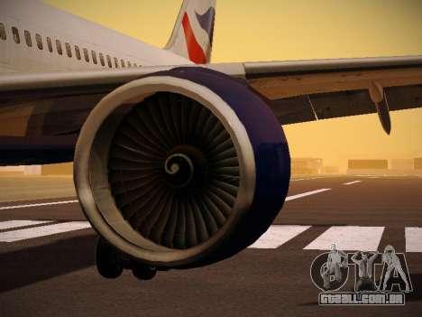 Boeing 757-236 British Airways para o motor de GTA San Andreas