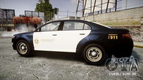 GTA V Vapid Interceptor LSS Black [ELS] Slicktop para GTA 4 esquerda vista