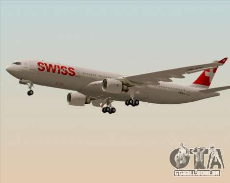 Airbus A330-300X Swiss International Air Lines para GTA San Andreas traseira esquerda vista