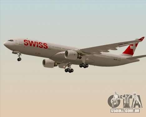Airbus A330-300X Swiss International Air Lines para GTA San Andreas traseira esquerda vista