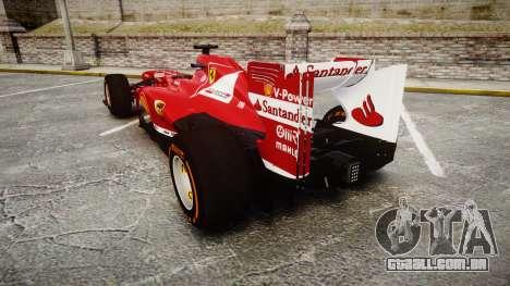 Ferrari F138 v2.0 [RIV] Alonso THD para GTA 4 traseira esquerda vista