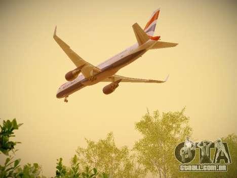 Boeing 757-236 British Airways para vista lateral GTA San Andreas