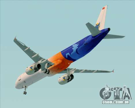 Airbus A321-200 Myanmar Airways International para vista lateral GTA San Andreas