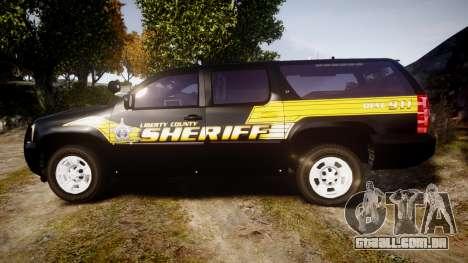 Chevrolet Suburban [ELS] Rims1 para GTA 4 esquerda vista