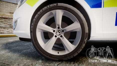 Vauxhall Astra Estate Metropolitan Police [ELS] para GTA 4 vista de volta