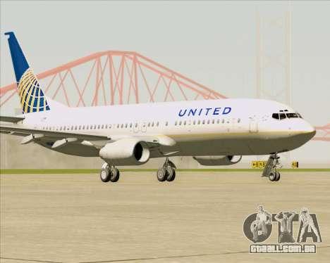 Boeing 737-824 United Airlines para GTA San Andreas esquerda vista