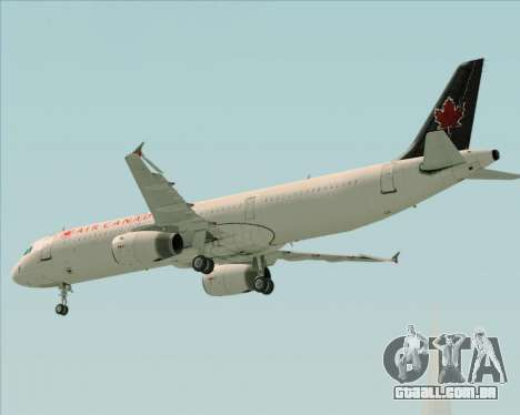 Airbus A321-200 Air Canada para GTA San Andreas vista superior