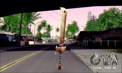 Меч (World Of Warcraft) para GTA San Andreas segunda tela