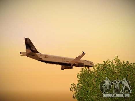 Airbus A321-232 jetBlue Woo-Hoo jetBlue para GTA San Andreas vista inferior