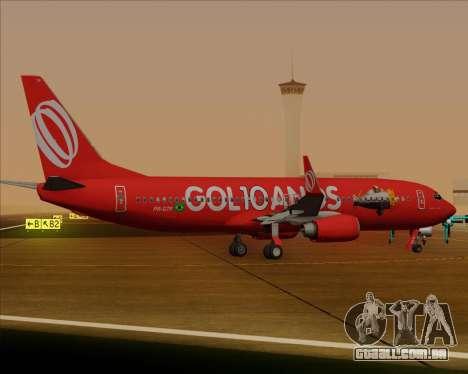 O Boeing 737-800 da Gol Transportes Aéreos para GTA San Andreas vista traseira
