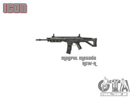 Máquina Magpul Massada ACW-R icon3 para GTA 4 terceira tela