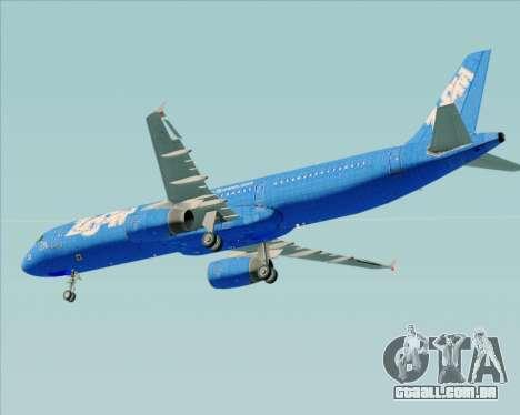 Airbus A321-200 Zoom Airlines para GTA San Andreas vista inferior