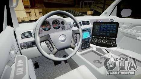 Chevrolet Avalanche 2008 Undercover [ELS] para GTA 4 vista de volta