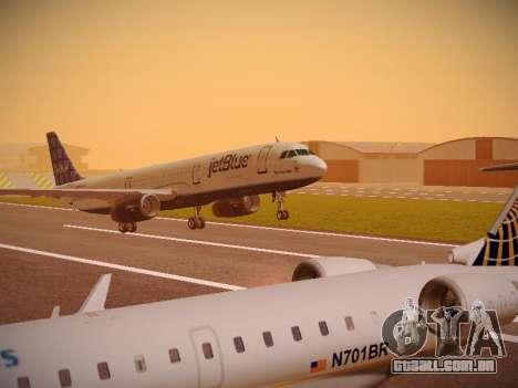 Airbus A321-232 jetBlue Blue Kid in the Town para GTA San Andreas esquerda vista