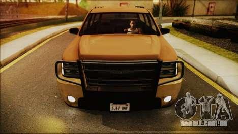 GTA 5 Granger para GTA San Andreas traseira esquerda vista
