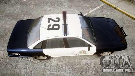 Vapid Police Cruiser GTA V LED [ELS] para GTA 4 vista direita