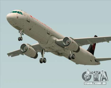 Airbus A321-200 Air Canada para vista lateral GTA San Andreas