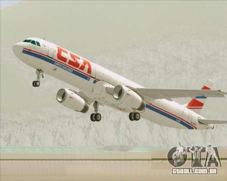 Airbus A321-200 CSA Czech Airlines para as rodas de GTA San Andreas