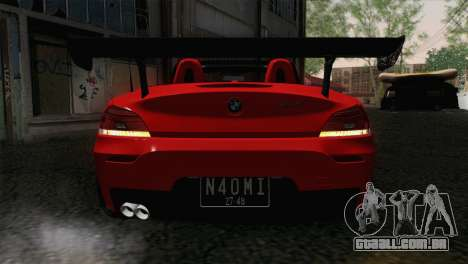 BMW Z4 sDrive28i 2012 Racing para GTA San Andreas vista traseira