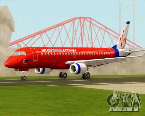 Embraer E-190 Virgin Blue para GTA San Andreas esquerda vista