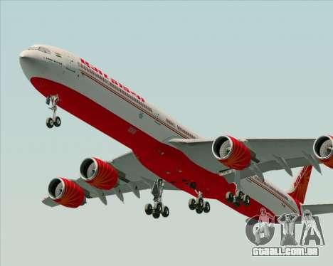Airbus A340-600 Air India para GTA San Andreas vista direita
