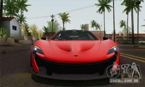 McLaren P1 HQ para GTA San Andreas vista traseira
