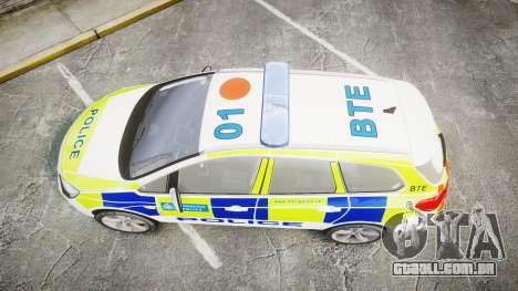 Vauxhall Astra Estate Metropolitan Police [ELS] para GTA 4 vista direita