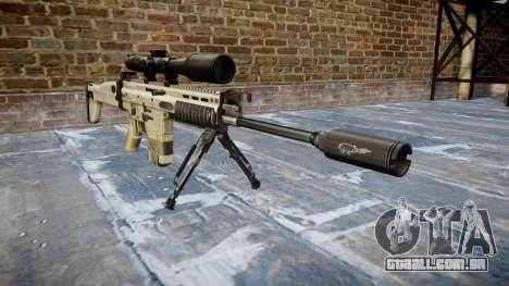 Rifle Mk 17 SCAR-H bipé para GTA 4