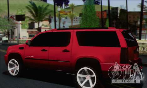 Cadillac Escalade ESV para GTA San Andreas esquerda vista