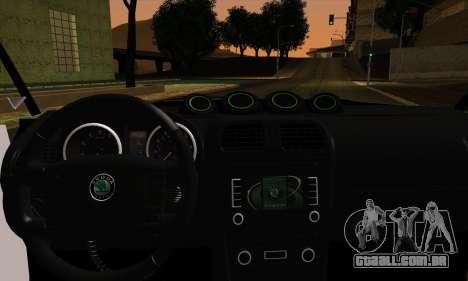 Skoda Fabia RS para GTA San Andreas traseira esquerda vista