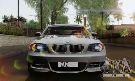 BMW 135i 2009 para GTA San Andreas vista direita